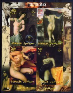 Somalia 2003 FRANZ VON STUCK Nudes Paintings Sheet (4) Perforated Mint (NH)