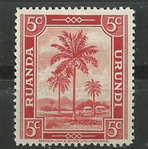 Ruanda-Urundi # 48  Palm Tree and Village (1)  Unused VLH