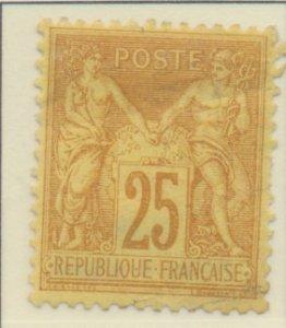 France Stamp Scott #99, Used - Free U.S. Shipping, Free Worldwide Shipping Ov...