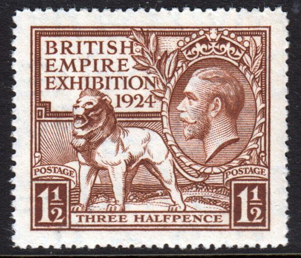 GB KGV 1924 British Empire Exhibition 1.5d Brown SG431 Mint Never Hinged MNH UMM
