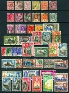 Ceylon #117 / #299 1885-1047 Assorted Queen Victoria to George VI Issues