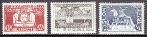 Finland - Scott #207-209 - MH - Crease on #208,209, pencil/rev. #207 - SCV $7.50