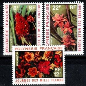 French Polynesia #264-6 F-VF Unused CV $11.50 (X1454)