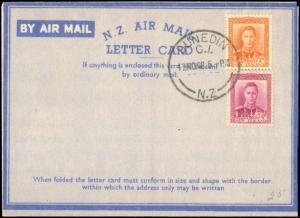 1948 NEW ZEALAND MULTI STAMP AIR LETTER CARD AEROGRAMME