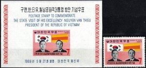 Korea #656, 656a  MNH CV $10.75 (X7576)