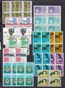 UNITED NATIONS (  SWISS) ^^^^x15MNH   in BLOCKS  collection  $$@ la133unswiss
