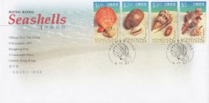 STAMP STATION PERTH Hong Kong # Seashells FDC 1997 VFU