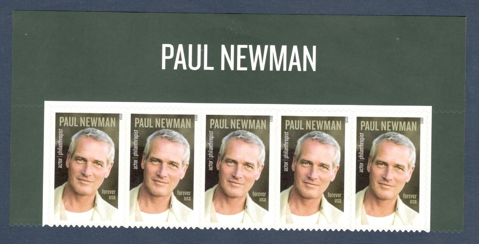 5020 Paul Newman Header W 5 Stamps Mint Nh Free Shipping HipStamp