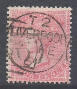 GB Scott 26 - SG66a, 1855 Victoria 4d used