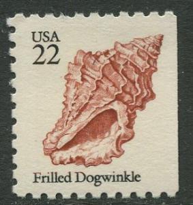 USA- Scott 2117 - Frilled Dogwinkle Shells - 1985 - MNG - Single 22c Stamp