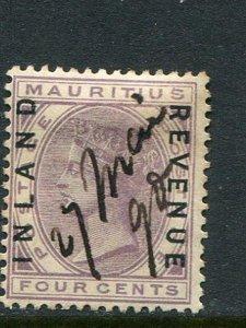 Mauritius 4c Revenue Forbin #2 Used