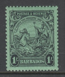 Barbados Sc 175a MNH. 1932 1sh black on emerald Seal of the Colony, fresh, XF