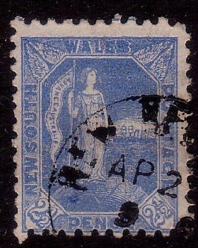 NEW HEBRIDES 1890s NEW SOUTH WALES 2½d used at Port Vila...................32698
