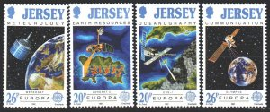 Jersey. 1991. 539-42. Space. MNH.