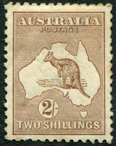 AUSTRALIA-1916 2/- Brown Sg 41 AVERAGE MOUNTED MINT V35835