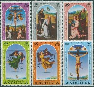Anguilla 1974 SG174-179 Easter set MNH