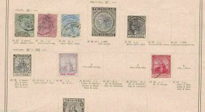 TRINIDAD STAMPS ON ALBUM PAGE  REF 909