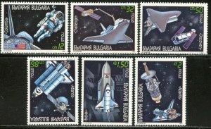 BULGARIA Sc#3622-3628 1991 US Space Shuttle Complete Set & SS OG Mint NH