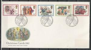 Great Britain, Scott cat. 1006-1010. Christmas issue. First Day Cover. ^