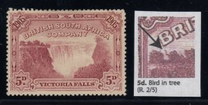 Rhodesia, SG 96a, MNG (no gum), Bird in Tree variety (from Row 3)