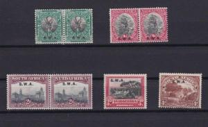 SOUTH WEST AFRICA  SWA OVERPRINT  MOUNTED MINT STAMPS PAIRS    R 2455
