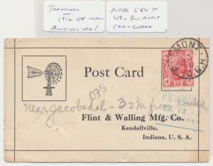 TRANSVAAL SOUTH AFRICA -USA 1912 REPLY CARD, BELMONT CDS 1d RATE (SEE BELOW)