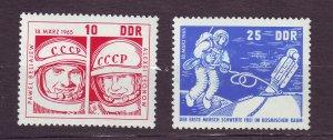 J23291 JLstamps 1965 germany DDR set mh #762-3 space