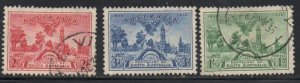 Australia Sc 159-61 1936 100th Anniversary South Australia stamp set used