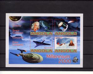 Angola 2001 Halley's Comet/Concorde/M.Monroe Sheetlet (4) Imperforated MNH