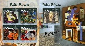 Z08 MLD190307ab MALDIVES 2019 Pablo Picasso MNH ** Postfrisch
