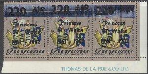 Guyana 785-8 MNH  Multiple Overprinted ITU/WHO 1984