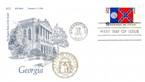 United States, District of Columbia, First Day Cover, Flags, Georgia