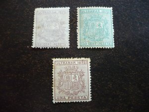 Stamps - Cuba - Scott# 63,65,66 - Mint Hinged - Partial set of 3 Stamps