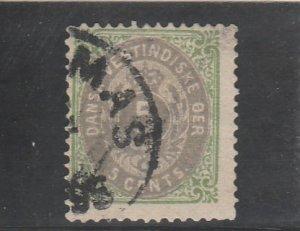 Danish West Indies  Scott#  8  Used  (1876 Numeral)