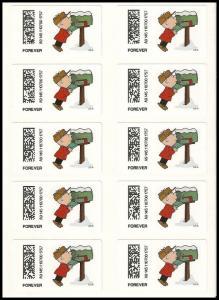 US CVP93 Charlie Brown Christmas Kiosk ATM forever sheet 10 MNH 2015