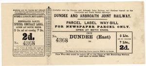(I.B) Dundee & Arbroath Joint Railway : Newspaper Parcel 2d (Dundee East)