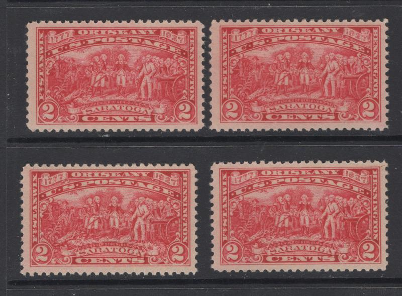 US Stamps 1927 Burgoyne Campaign Issue Scott 644 MNH