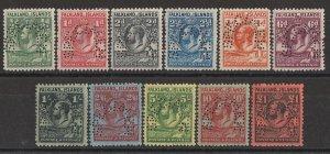 FALKLAND ISLANDS : 1929 KGV Whale & Penguin set ½d-£1, SPECIMEN. Rare.