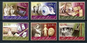 Norfolk Island 2011 MNH Museum Artefacts Part II 6v Set Dolls Museums Stamps