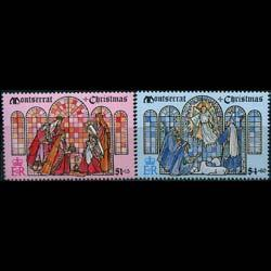MONTSERRAT 1992 - Scott# 819-20 Christmas Set of 2 NH