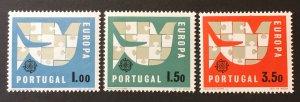 Portugal 1963 #916-8, Unused/MH,  CV $6.25
