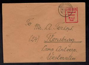 1947 Meerbeck Stadthagen Germany Displaced Person DP Camp Cover to Flensburg