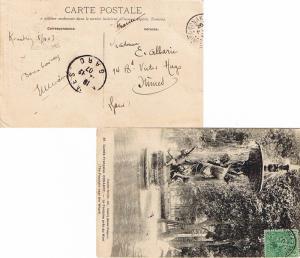 French Guinea 5c Fulah Shepherd 1907 Conakry, Guinee Francaise PPC (Guinee Fr...