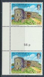 Alderney  SG A8  SC# 8  Scenes Fort Clonque MNH Gutter Pair see scan
