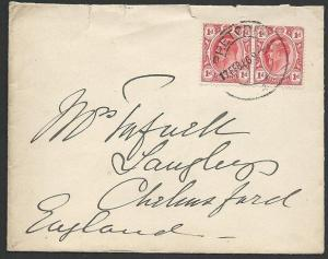TRANSVAAL 1906 cover Pretoria to UK........................................49429