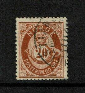 Norway SC# 27, Used, minor corner crease - S9207