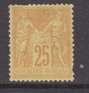 France a MNG 25c yellow peace & commerce