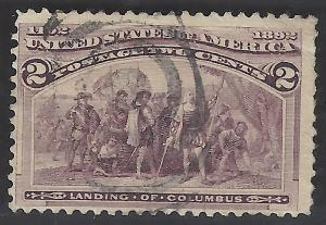 USA #231 Used  Columbian Exposition 1893