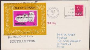GB 1971 Post Office Strike mail cover to France.............................5452