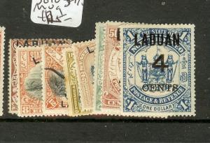 LABUAN (B0802) 4C SURCHARGES  SG103-110  MOG
